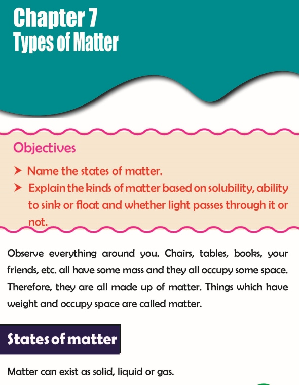Grade 3 Science Lesson 7 Types Of Matter