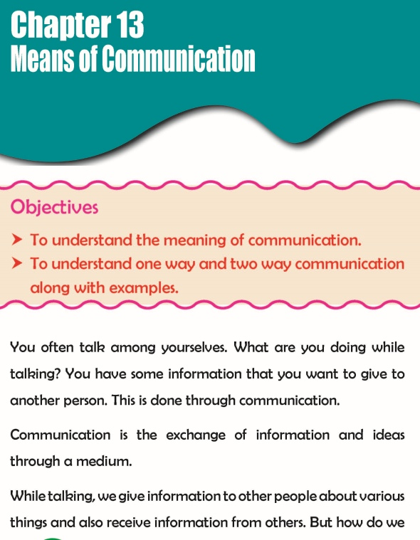 Grade 3 Science Lesson 13 Means Of Communication
