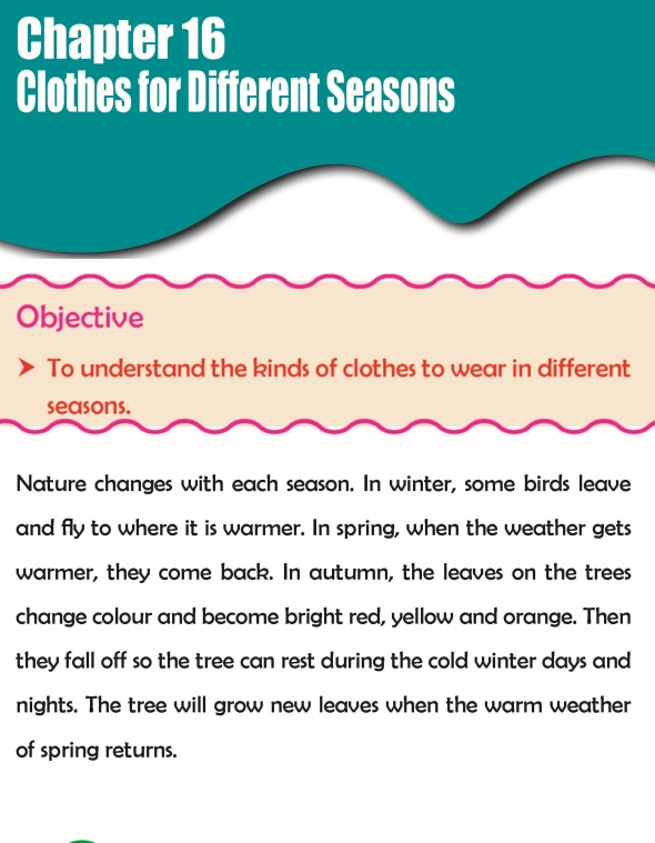 Grade 3 Science Lesson 16 Clothes For Different Seasons