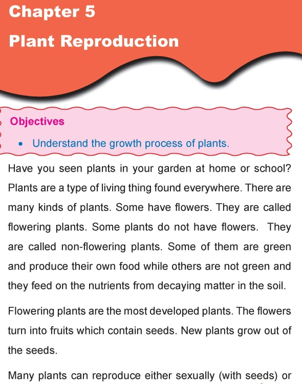 Grade 4 Science Lesson 5 Plant Reproduction