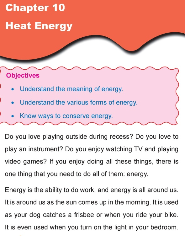 Grade 4 Science Lesson 10 Heat Energy