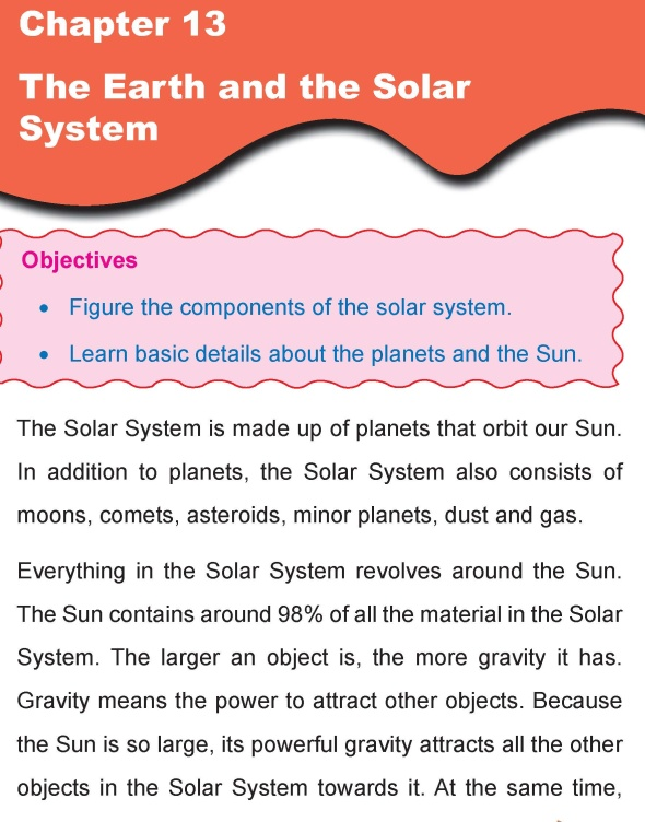 Grade 4 Science Lesson 13 The Earth and the Solar System