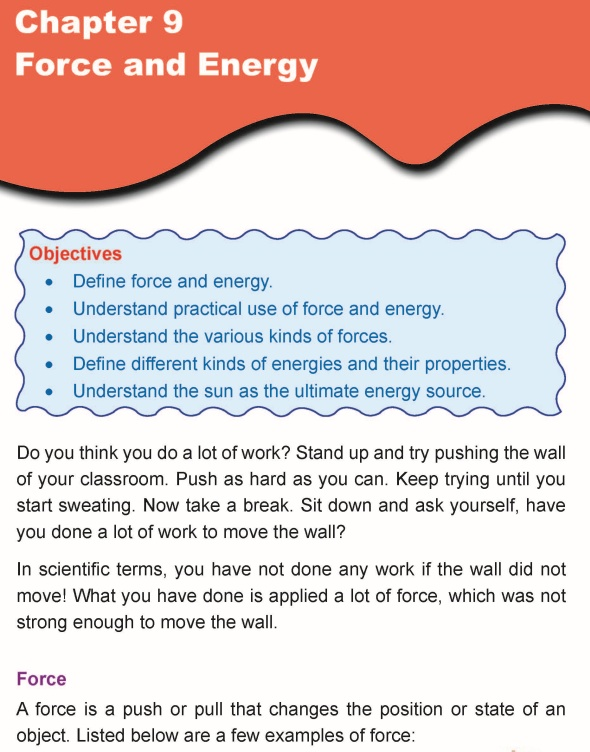Grade 5 Science Lesson 9 Force and Energy