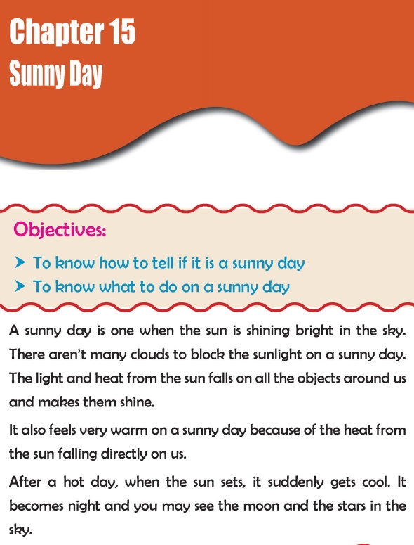 Grade 2 Science Lesson 15 Sunny Day